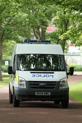Widnes Police patroling Victoria Park, Widnes. (Barry Miller _ Bazz) Tags: park drive victoriapark police van fordtransit canon5dmark2 300mmf4llens victoriaparkwidnescheshire