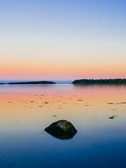 Sunset, Eggemoggin Reach (TheRobbStory) Tags: pink blue summer orange color me digital canon maine coastal gradient usm brooklin ef eggemogginreach 2035 woodenboatschool vsco sonya7 robbhohmann vscocam