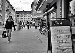 Charcuterie (Thomas8047) Tags: street city people bw blancoynegro monochrome schweiz switzerland nikon candid zurich streetscene streetphoto zrich metzger ch onthestreets zri mensch charcuterie langstrasse 2016 streetphotographer kreis4 blackandwithe passanten fleischer schwarzundweiss 175528 stadtzrich aufschnitt urbanarte streetpix d300s streetartstreetlife iamnikon snapseed thomas8047 strassencene zrigrafien zrichstreets hofmanntmecom