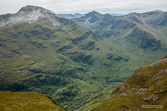 Glen Nevis from Ben Nevis. (Scotland by NJC.) Tags: scotland unitedkingdom gb valley vale gorge dale glen strath cwm coomb rift faultline   dolina dol dal vallei valle laakso valle tal   mountains hills highlands peaks fells massif pinnacle ben munro heights  montanha  planina hora bjerg berg montaa vuori montagne  montagna fjell glennevis landscape scenery countryside scene setting background panorama view topography geography terrain environment   paisagem krajolik krajina landskab landschap
