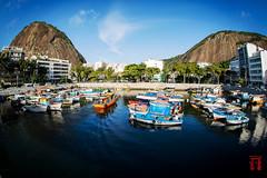 URCA - RJ (andersonkem) Tags: ocean rio riodejaneiro landscape boat fisheye urca errejota