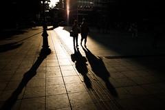 shadow walk (Kostas Katsouris) Tags: road street city urban sun colour contrast evening fuji shadows pavement walk center athens greece fujilfilm xt10