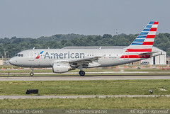 American Airlines Airbus A319-112 (N747UW) (Michael Davis Photography) Tags: airplane photography nashville aviation flight jet american airbus americanairlines departure takeoff runway aa airliner jetliner bna a319 nashvilletennessee kbna nashvilleairport n747uw