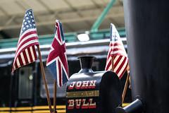 John Bull (The Flying Inn) Tags: railroad train pennsylvania americanflag flags strasburg locomotive unionjack usflag johnbull oldglory 1831 britishflag railroadmuseumofpennsylvania