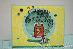 Birthday Slide and Shake (Frompapertosmiles) Tags: birthday slide shaker birthdaycard sss partyanimals interactivecard lawnfawn