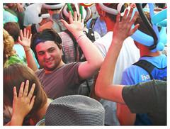 High Five (daveelmore) Tags: highfive teens crowd audience concert festival friends gesture hands floydfest floydva virginia mzuiko40150mmr