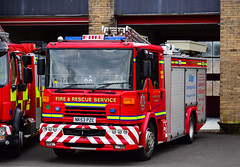 NK53PZC (firepicx) Tags: northumberland fire rescue service nfrs emergency brigade 999 firefighter dennis sabre wrlet pump blue lights sirens station lineup retained reserve hexham nk53pzc