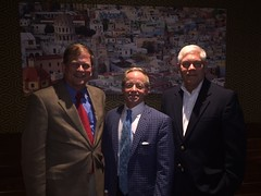 Pete Sessions with Chairman of the Texas Republican Party, Tom Mechler, and Chairman of the Dallas County Republican Party, Phillip Huffines