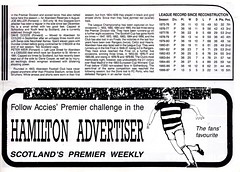 Hamilton Academical vs Aberdeen - 1986 - Page 7 (The Sky Strikers) Tags: hamilton academical academicals accies douglas park fine fare premier league division official programme 50p