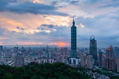 - Sunset after the rain (basaza) Tags:  1635 30d canon taipei101 101 taipei