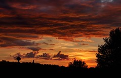 No Sunset is Ever the Same (Rh+) Tags: iowa mountvernon sunset landscape clouds dramatic rooftop cityscape city red nikon d800 intense
