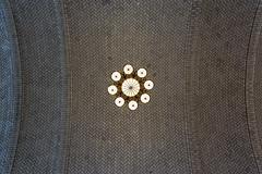 Chandelier III (Jan van der Wolf) Tags: map14179v chandelier luchter kroonluchter ellisisland ceiling plafond symmetric symmetry symmetrie abstract lamp light