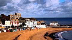 Sandy Beach... (MickyFlick) Tags: broadstairs kent england southeast vikingbay windfarm clouds sea bright mickyflick redphonebox postoffice uk greatbritain