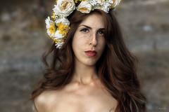 Freckles (dontgiveacake) Tags: freckles girl portrait fine art retouch flowers