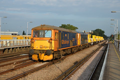 6W77 73212 + 73128 Ashford Crane Depot - Tonbridge West Yard (Adam McMillan Railway Photography) Tags: 73212 73128 seen passing paddock wood with 6w77 ashford crane depot tonbridge yard the sitt wagons have had work carried out them being prepared for use after rhtt balfour beatty loco ed treatment train gbrf gbrailfreight