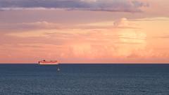 Cruising towards the light (Yannick Lefevre) Tags: europe france var provence cruise boat yacht sea landscape sunset clouds frenchriviera cotedazur paysage croisire nikon d810 nikkor24120f4 tripod gitzo raw nef lightroomcc photoshopcc