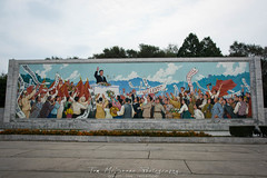 Revolutionary Mosaic in Pyongyang, North Korea (DPRK) (tommcshanephotography) Tags: adventure asia communism dprk democraticpeoplesrepublicofkorea expedition exploring kimilsung kimjungil kimjungun northkorea pyongyang revolution secretcompass travel trekking