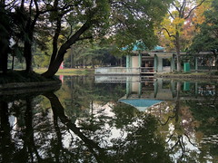 Chinese park pond in autumn - Xiaoyaojin park of Hefei (Germn Vogel) Tags: asia eastasia china anhui hefei pond water waterreflection tree autumn season gazebo architecture architecturemeetsnature park recreation relaxing terrace nature travel traveldestinations traveltourism tourism touristattractions xiaoyaojin xiaoyaojinpark serene outdoor chinesegarden beautiful