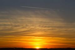 Con Trail (ArtGordon1) Tags: sunset evening sunrays clouds cloud october 2016 davegordon davidgordon daveartgordon davidagordon daveagordon artgordon1 walthamstow london england uk sky