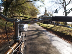 Riding in Autumn Sunshine (cycle.nut66) Tags: road autumn trees light sky green leaves sunshine speed self golden 1974 three steel olympus raleigh front hills chrome lane brake archer adjusting handlebars shifter trigger chiltern esquire levers dynohub sturmey epl1 microfourthirds mzuiko