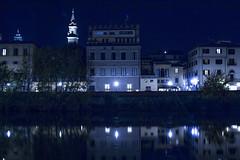Me la faresti un po' pi blu? (Giovanni Tortorella) Tags: blue italy cold reflection building water glass architecture river florence cool nice italia blues firenze arno