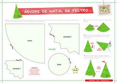 PAP rvore de Natal Craft de Feltro (com molde) (BoniFrati) Tags: tree cute natal diy craft rvore tutorial pap molde passoapasso bonifrati craftchristmas natalcraft