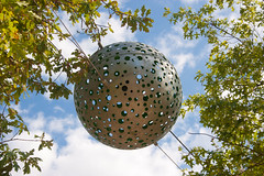 Ball, at Queen Elizabeth Park (Biggleswade Blue) Tags: world park flowers summer orange west flower london tower cup yellow utd high focus rugby quality centre games ham olympic rudbeckia orbit aquatics infocus zaha hadid in highquality arcelormittal