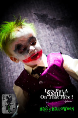 joker final 2 (Dave polonowski) Tags: baby halloween fun happy insane toddler dress makeup spooky fancy batman joker haunting fright 2014 todlar