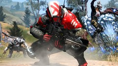 """""""Defiance"""" (scolemanart) Tags: show fiction red game xbox360 fall television ego one pc tv gun alien xbox 360 science aliens steam armor massive online scifi guns spaceship ira ark playstation multiplayer fps mmo defiance ps3 ps4 votan irathient arkfall xboxone"""