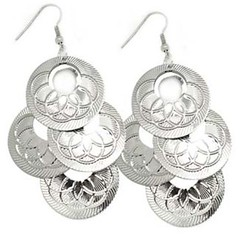 5th Avenue Silver Earrings P5210-1