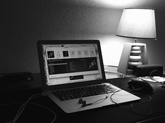 Love Music and Photography (Gaetan682) Tags: bw music 6 love me apple work photography book lampe photo mac noir photographie noiretblanc bureau air tapis follow lumiere setup blanc logitech musique iphone followme effet macbook earpod macbookair 6plus mxperformance iphone6plus