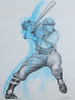 Blue Batter (joe.farnhamart4321) Tags: illustration watercolor artist baseball vintagebaseball winsornewton baseballart sportsart