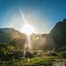 Sun rises over the Himalayan peaks