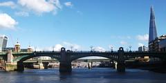 Southwark bridge & the Shard 01/11/14. (Ledlon89) Tags: london water thames river riverboat riverthames thamesclipper