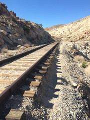 Wandering (spork_spelunking) Tags: california railroad hot train desert tracks dry sunny hike adventure anzaborrego wander iphone