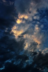 Lost in the clouds ~ || (ζάђяάά) Tags: blue sunset sky cloud clouds غيوم غروبالشمس ازرق غيمة زرقة