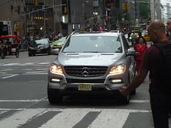 Mercedes ML (JLaw45) Tags: road street new york city nyc urban sport america truck germany europe european state metro manhattan united north utility midtown german vehicle metropolis states foreign suv northeast import deutsche crossover deutscheland