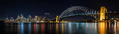 Sydney Harbour Night Panorama @ Kirribilli