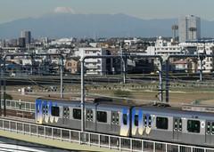 PB140031 (mr_nihei) Tags: bridge japan train tokyo fuji railway ota tokyu tamagawa