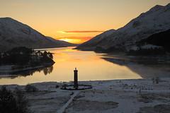 Glenfinnan - Winter Sunset (David Kendal) Tags: sunset scotland highlands lochshiel glenfinnan scottishlandscape scottishwinter