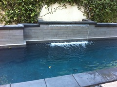 "New pool built with sheer descent waterfall • <a style=""font-size:0.8em;"" href=""http://www.flickr.com/photos/71548009@N02/15885092171/"" target=""_blank"">View on Flickr</a>"