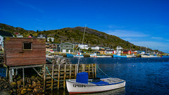 Around the Bay (apeddle1982) Tags: ocean sea canada color water beauty newfoundland boats coast fishing colours atlantic east shack midday