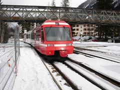 RD294.  Departing Chamonix for Le Chtelard. (Ron Fisher) Tags: snow france rail railway thealps chamonix ch narrowgauge frenchalps schmalspurbahn montblancexpress metregauge voieetroite