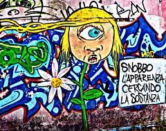 Snobbo l'Apparenza (STEVE BEST ONE) Tags: street italy streetart art abandoned nikon italia places exploration lombardia appearance lecco substance apparenza abandonedplaces 2011 sostanza consonno olginate d3100