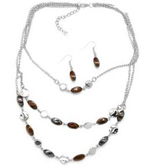 5th Avenue Brown Necklace P2330A-1