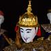 Spectacle sur le thème d'un affontement entre un roi thaï et un roi birman. Festival international de marionnettes, Chiang Mai, Thaïlande