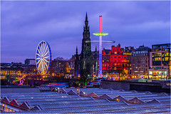 Edinburgh Princes Street (the44mantis) Tags: christmas street xmas wheel festival night festive lights evening scotland edinburgh escocia newyear princes schottland schotland ecosse scozia edimburg
