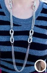 5th Avenue Silver Necklace K1 P2210-1