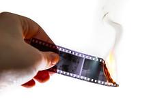 HP5 Minus (gothick_matt) Tags: film fire burning negative filmstrip