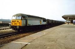 Wakefield Kirkgate, 15 March 1993 (elkemasa) Tags: 1993 pacer dmu wakefieldkirkgate class56 class141
